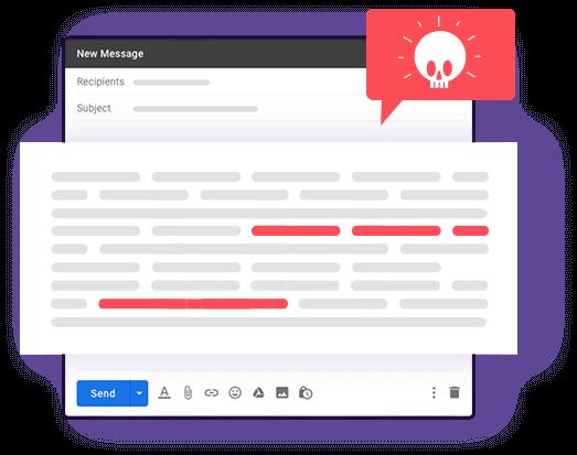 mailzapp check spam words