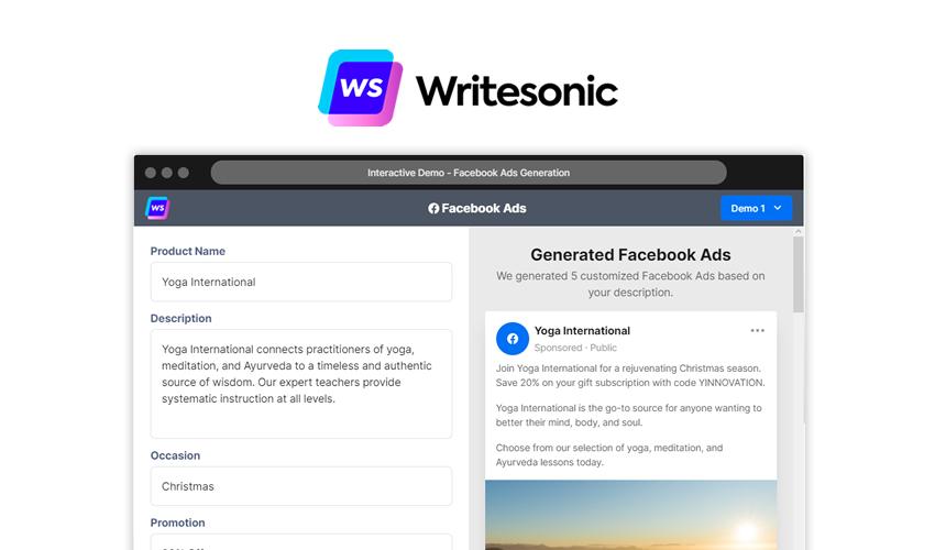 writesonic ai content generator